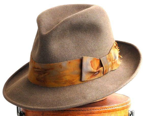 Mens Felt Fedora Hat- Brown Felt Hat- Mad Men- The Great Gatsby- 1920's Men's Hat- Fall Fashion. $180.00, via Etsy.