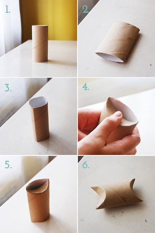 How to make a pillow box from toilet paper tube
