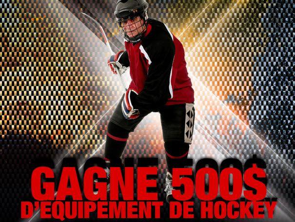 Gagnez 500$ pour l'achat d'équipement de hockey - Quebec echantillons gratuits