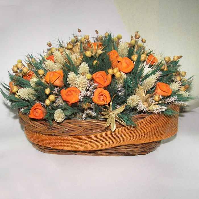 11 best images about cesta r stica con flores secas de - Adornos flores secas ...