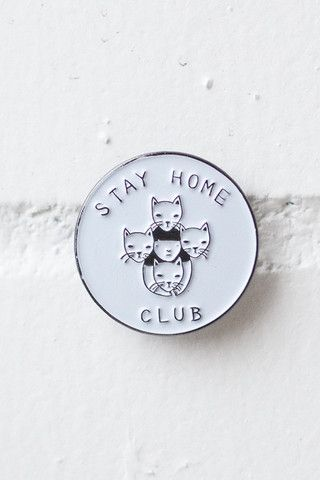 Stay Home Club lapel pin