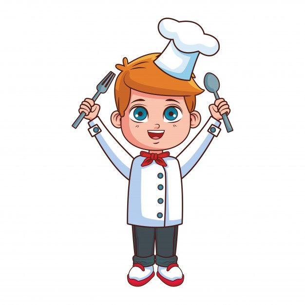 Dibujos Animados De Nino Chef Vector Pre Premium Vector Freepik Vector Comida Restaurante Dibujos Ninos Dibujos Animados Ninos Chef Dibujos Animados