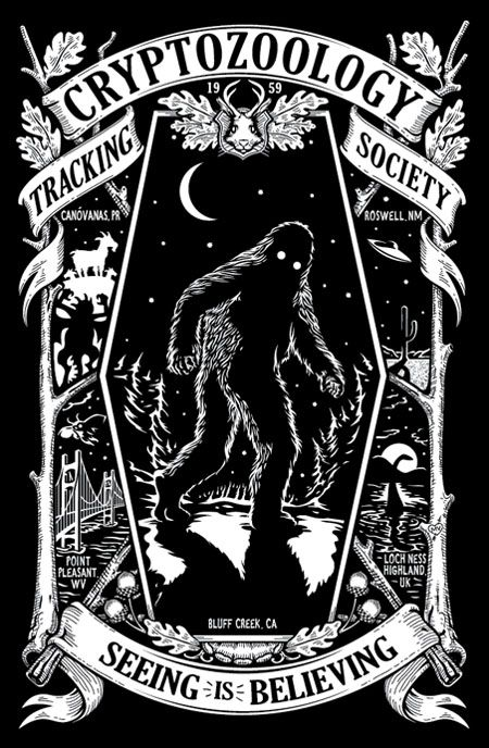 Cryptozoology Tracking Society - Love it! My 5 year old son should become a member...