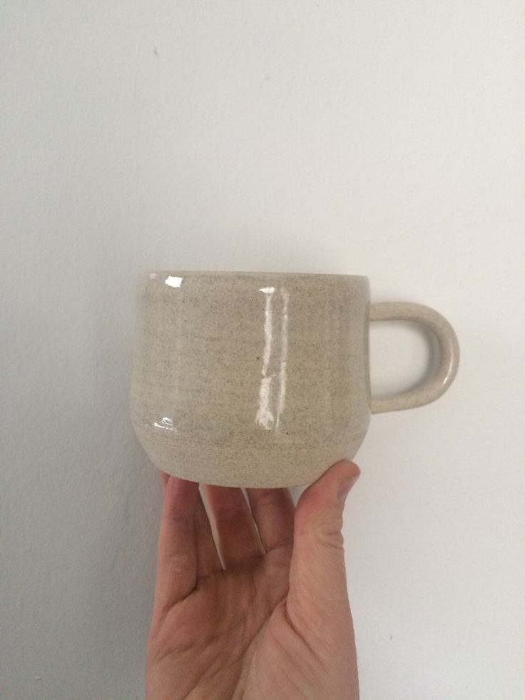 A personal favorite from my Etsy shop https://www.etsy.com/ca/listing/286629553/coffee-mug-with-skinny-handle-in-light
