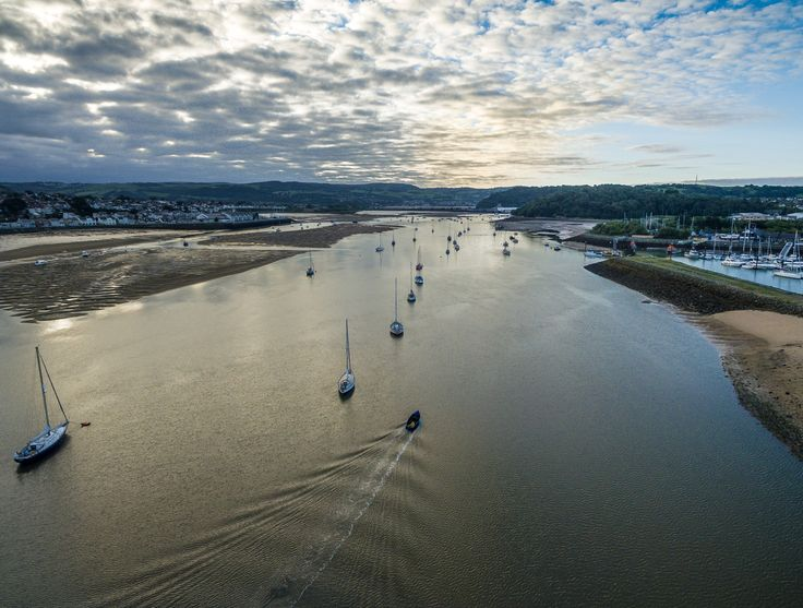 Morning Conwy - Phantom 3 over the River Conwy in North Wales