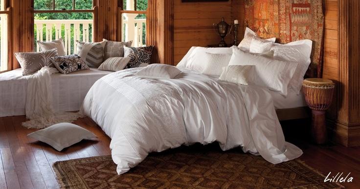 Sleeping on a cloud, I love big fluffy comforters!