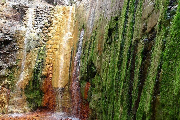 La Palma wandelen, wandeling in de Caldera naar de Cascada de Colores.