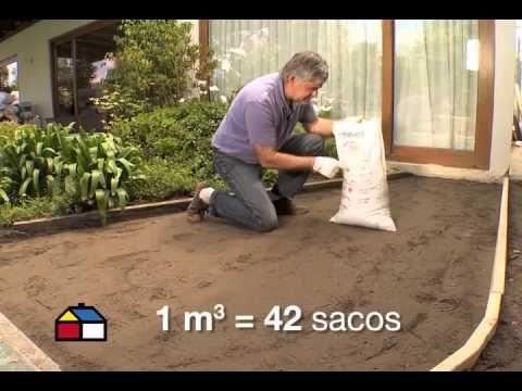 C mo hacer un suelo de ladrillo youtube bricogarden - Como hacer un piso de hormigon ...