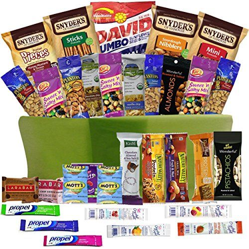 25 unique college basket ideas on pinterest college gift healthy snacks gift basket care package 32 health food snacking choices quick ready to negle Images