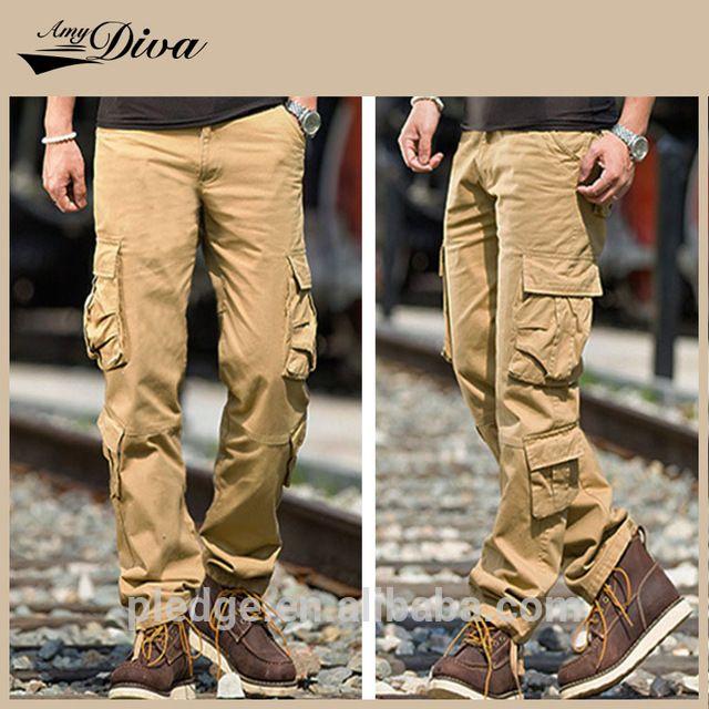Новейшие разработки казуальных шесть карман длинные брюки 100% чистого хлопка рябить брюки мода брюки-карго для человека-вМужские брюки и штаны из Мужская одежда на m.russian.alibaba.com.