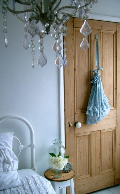 stripped victorian door - love doors like this with white frame