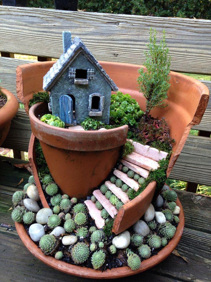 197 best terracotta miniature gardens images on pinterest - Miniature plants for fairy gardens ...