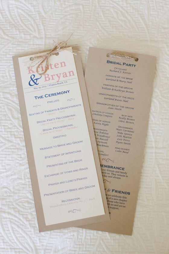 DIY Wedding Ceremony Programs www.homesweetlifeblog.com