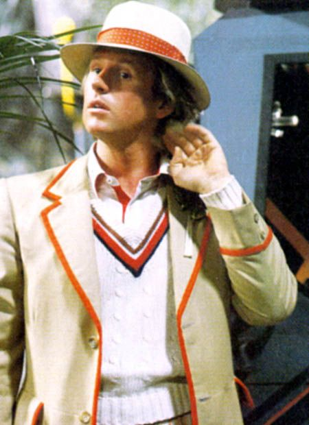 From the Archives of the Timelords Born 13 April 1951 Peter Davison portrayed the fifth incarnation of the Doctor from the end of Logopolis (1981) through the end of The Caves of Androzani (1984). Age during show: Logopolis 30 years .. The Caves of Androzani 32 years .. Dimensions In Time 42 years 2002 birthday: 51st Real name: Peter Moffat