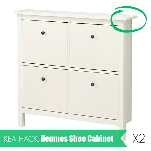 ikea hack hemnes shoe cabinet how to install two hemnes shoe cabinets side by side diy home. Black Bedroom Furniture Sets. Home Design Ideas