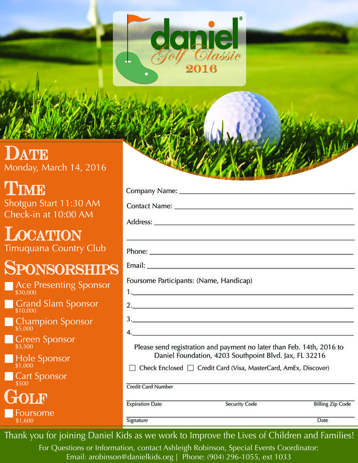 Best Golf Images On   Registration Form Flyer