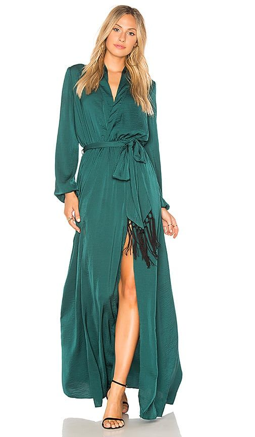 a109e9eba85 Green maxi dress with long sleeves by Jetset Diaries