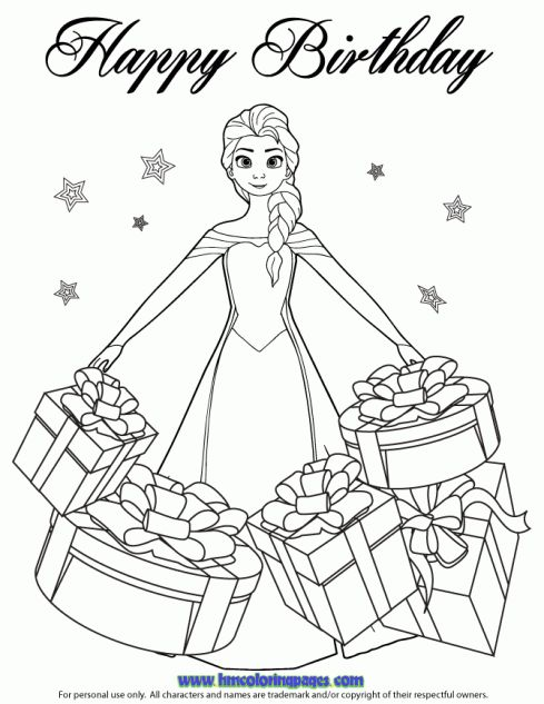 24 best disney frozen birthday coloring pages images on for Coloring pages for frozen characters
