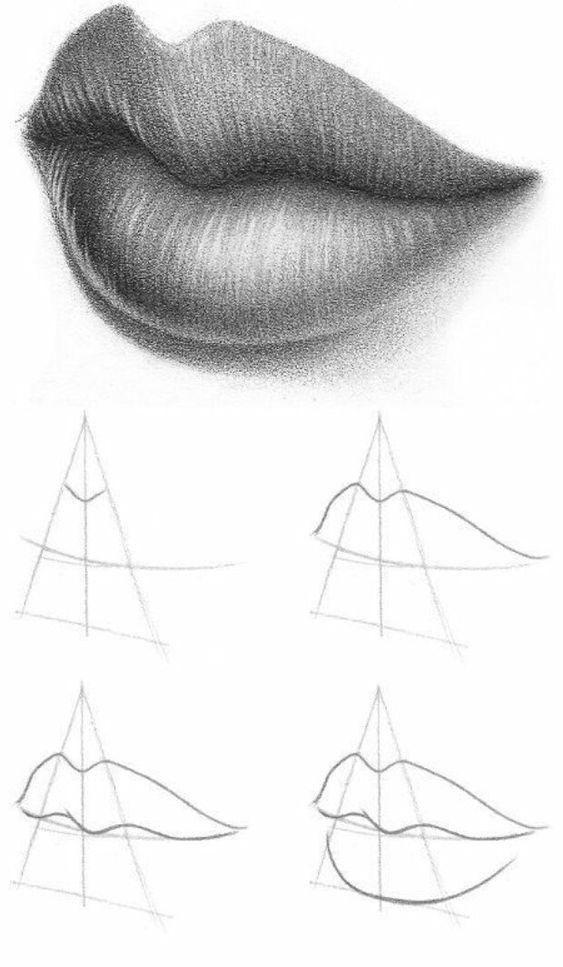 картинки как рисовать губы каждая рукодельница способна