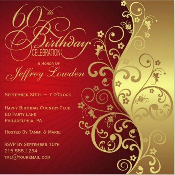 28+ 60th Birthday Invitation Templates PSD Vector EPS AI 90th birthday invitations 70th