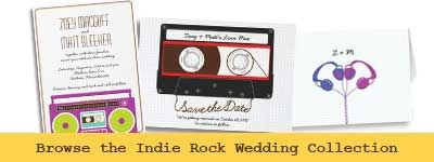 Indie Mixtape Wedding (Purple/Lime) Save the Date Personalized Invitation from Zazzle.com