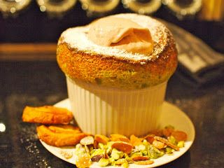 The Renaissance Girl Cooks...: Pierre Koffman's Pistachio Souffle - Thermomix + oven