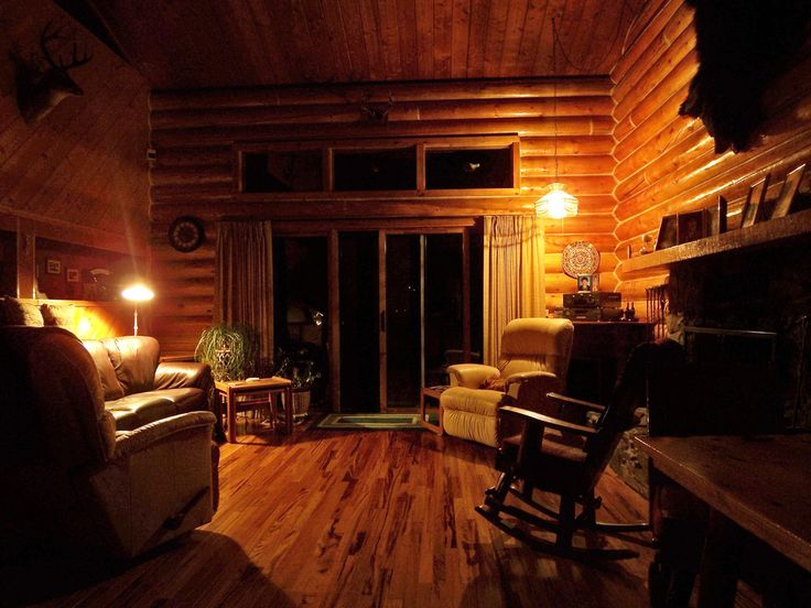 Log Home Living Rooms | Look Inside A Cozy Log Home Living Room Photo By  Paul