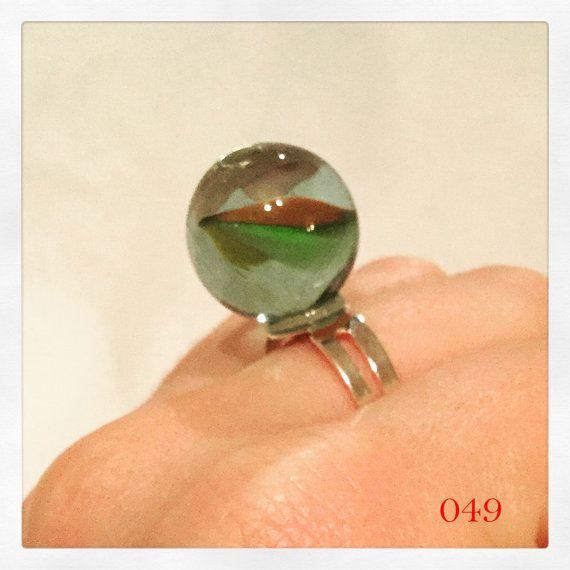 Marmeren Funky Ring, Ring, ongebruikelijke Ring, verloren mijn knikkers, knikkers, marmer sieraden, marmer sieraden, schattige ring, marmeren accessoire,