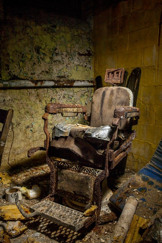Old Barber Chair | Pennhurst State School | Spring City, PA | Photo By: Tom Kirsch via opacity.us