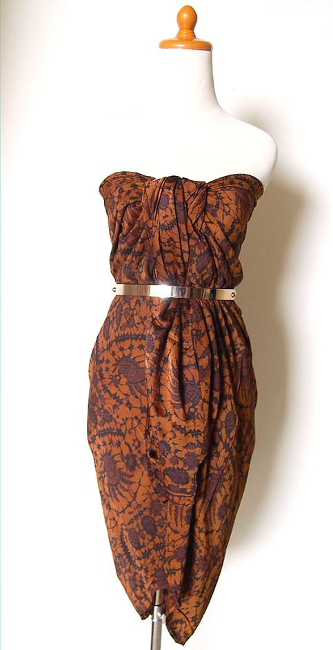 Indonesian Batik Dress, Long Skirt, Beach Wear, Multifunction from SOKA