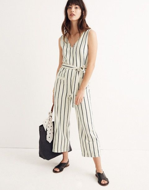 1a78fd4cb664 Striped Pull-On Jumpsuit in marta stripe image 1