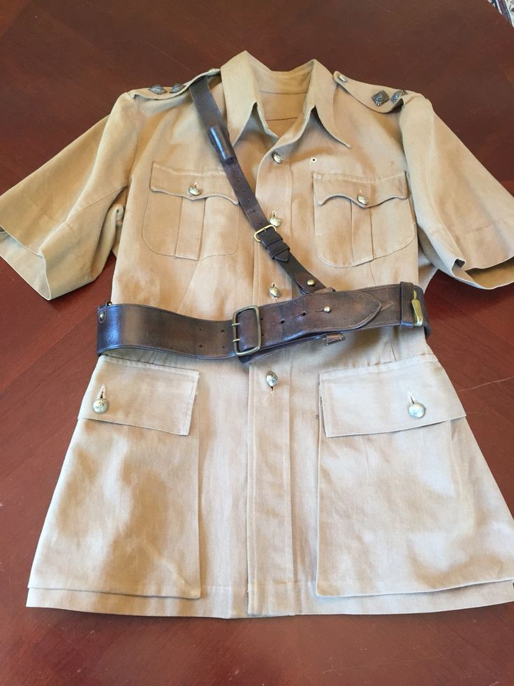 British Colonial Tanganyika Police Inspector's uniform