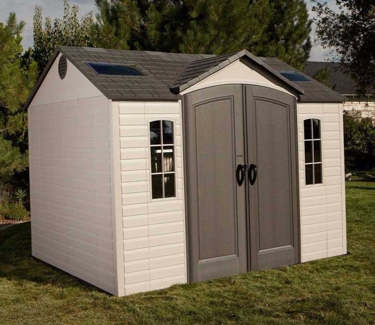 lifetime 10ft wide x 8ft deep single entrance shed