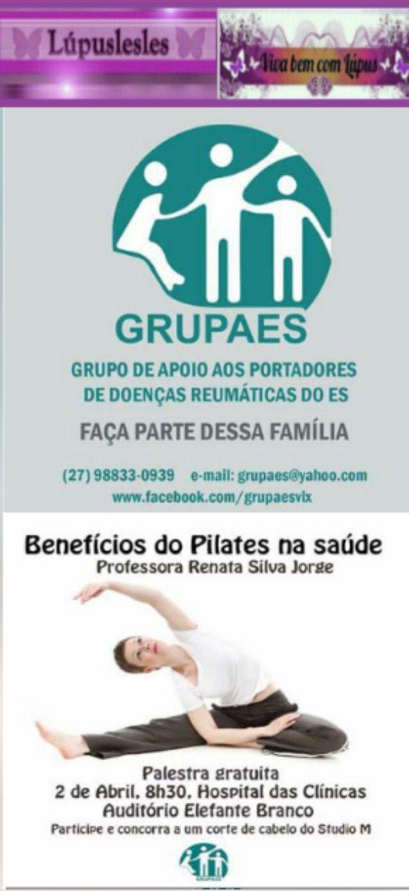Lúpuslesles: GRUPAES Convida :) Palestra gratuita Benefícios do...
