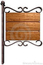 Resultado de imagen para modelos de letreros de hierro y madera