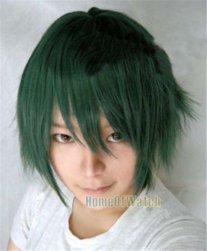 Anime fashion handsome Dark Green short hair wig (NWG0CP60353 DG3 )-in Synthetic Wigs from Health & Beauty on Aliexpress.com | Alibaba Group