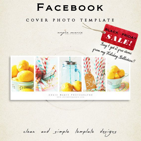 Facebook Cover Photo Template by JustBeingAngie on Etsy
