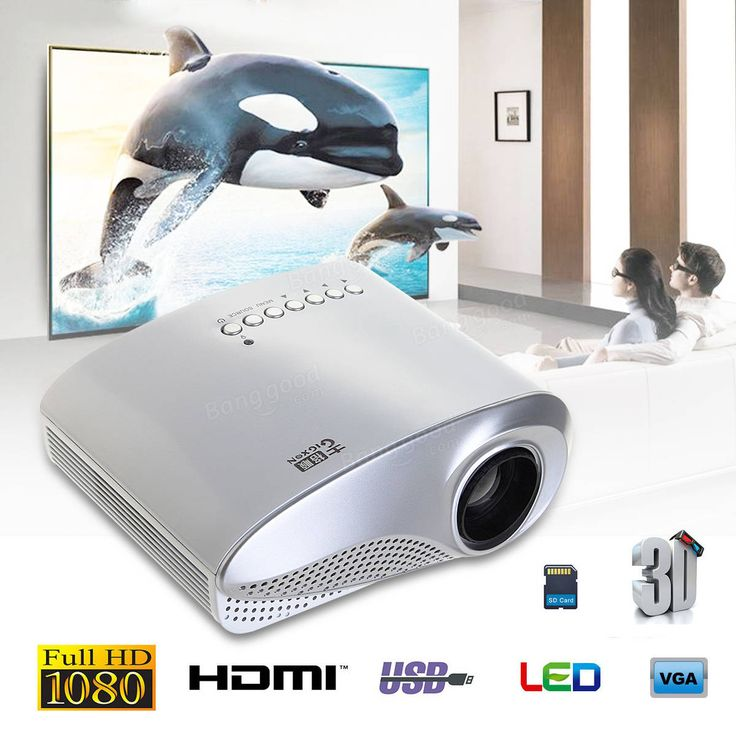 GIGXON H600 Multimedia 1200 Lumens Portable LCD LED Office and Home Theater Projector Sale - Banggood.com