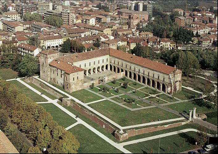 Vista aerea del #Castello di #Melegnano.
