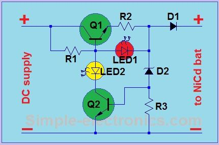 Simple Ni-Cd charger (Automatic)   simple electronics