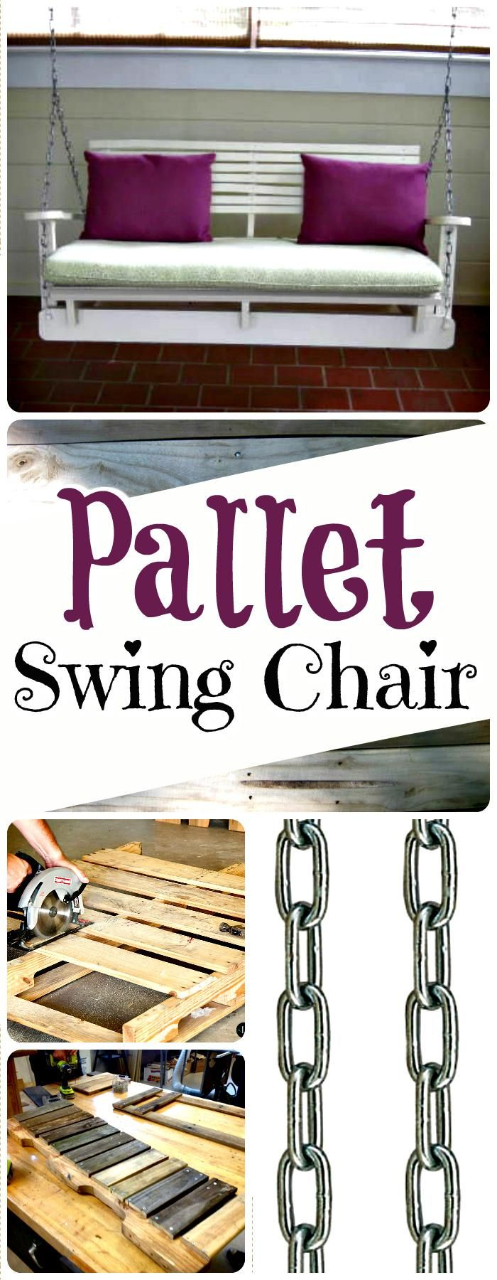 Self-Made & Installed Pallet Swing Chair - 150 Best DIY Pallet Projects and Pallet Furniture Crafts - Page 4 of 75 - DIY & Crafts