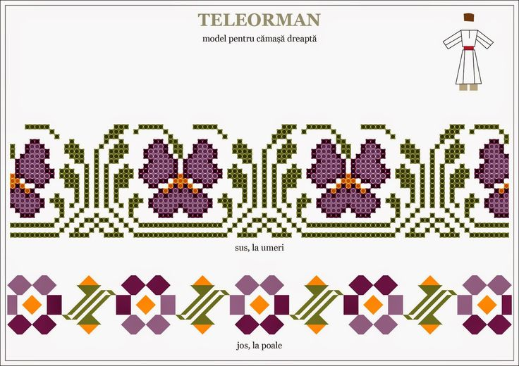 Semne Cusute: Romanian traditional motifs MUNTENIA, Teleorman