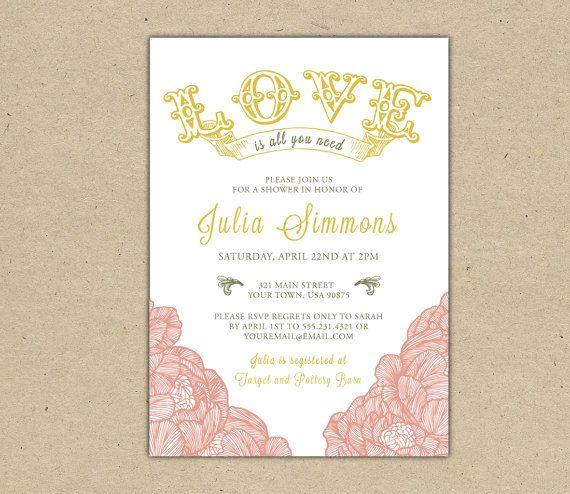 19 best Beatles bridal shower images on Pinterest Bridal showers - bridal shower template