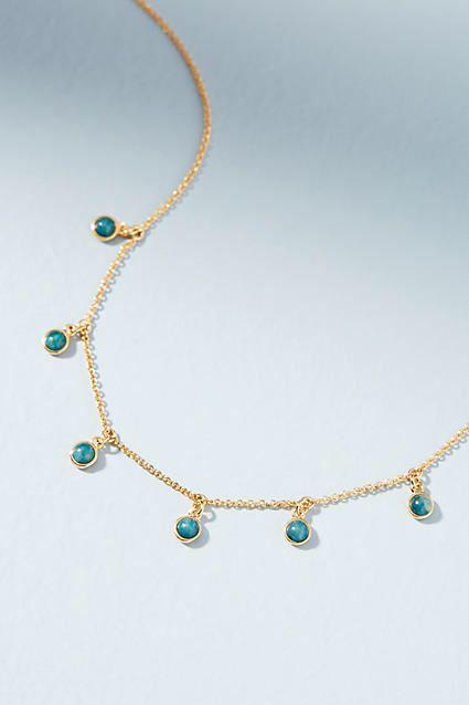 Anthropologie Carolina Drop Necklace