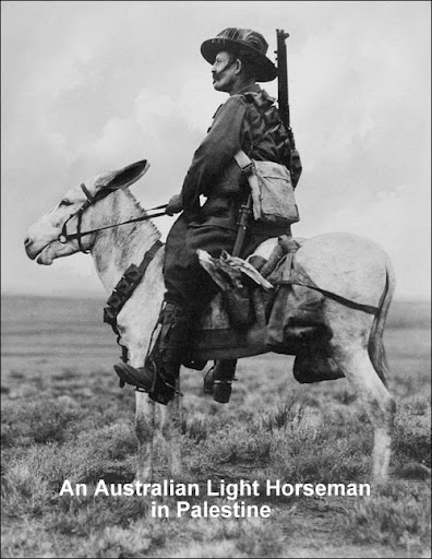 An Australian light horseman in Palestine.