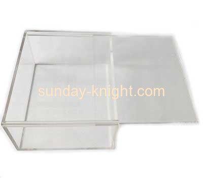 Custom clear acrylic plastic display cases box with sliding lid DBK-109