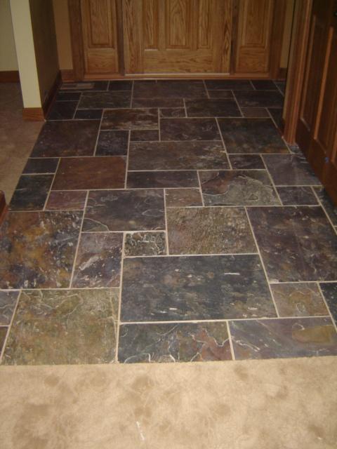 Foyer To Kitchen Flooring : Best slate bathroom images on pinterest