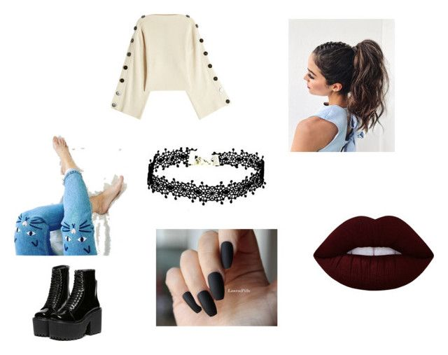 """""""Untitled #29"""" by gabygabi07 on Polyvore featuring Petar Petrov, Monki and Lime Crime"""