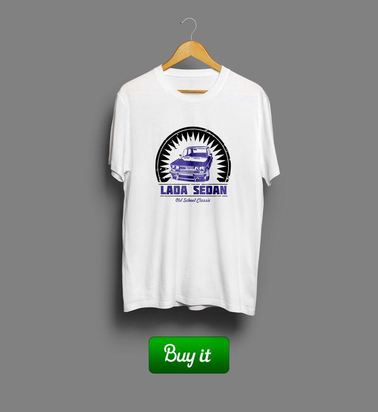 Lada Sedan   #Lada #Sedan #лада #седан #футболка #tshirt #ВАЗ #авто #машина #car #old #classic #классика