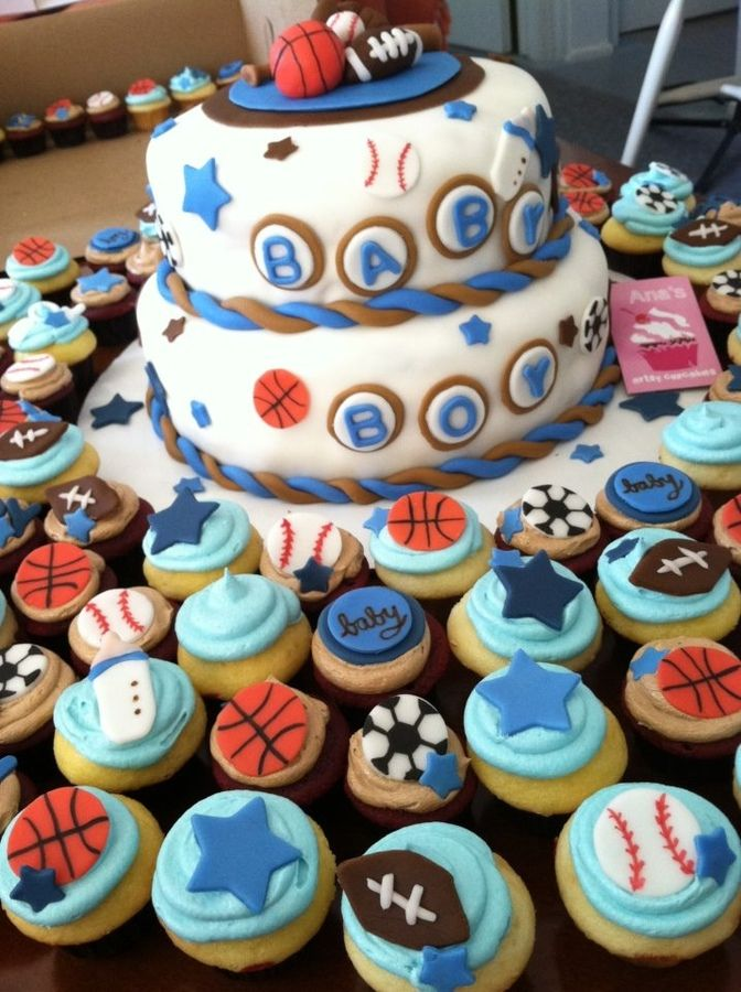 Sports+themed+baby+shower+cakes | Sports Themed Baby Shower U2014 Baby
